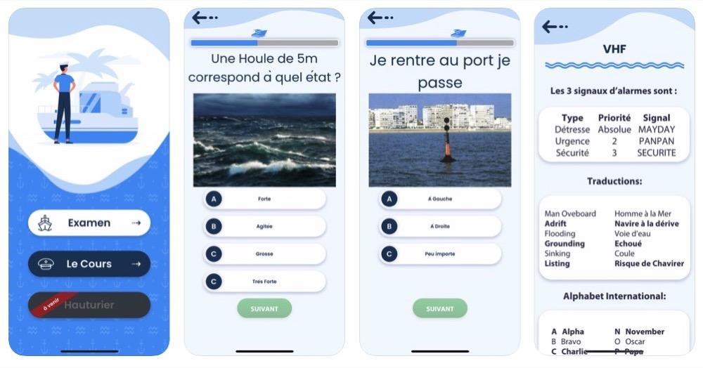 App iPhone/iPad permis bateau