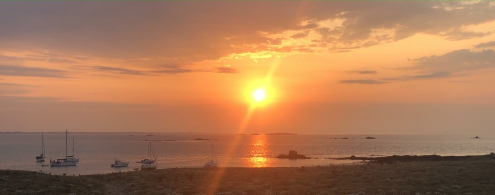 Coucher de soleil depuis l'île d'Hœdic