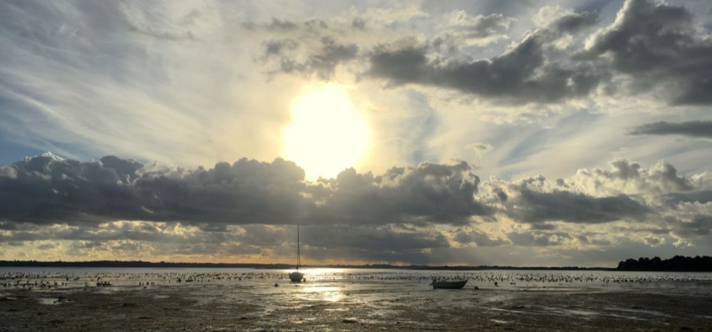 Coucher de soleil à Tascon, Morbihan