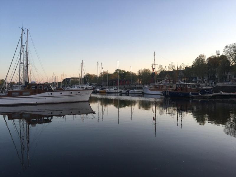 Port de Vannes le soir