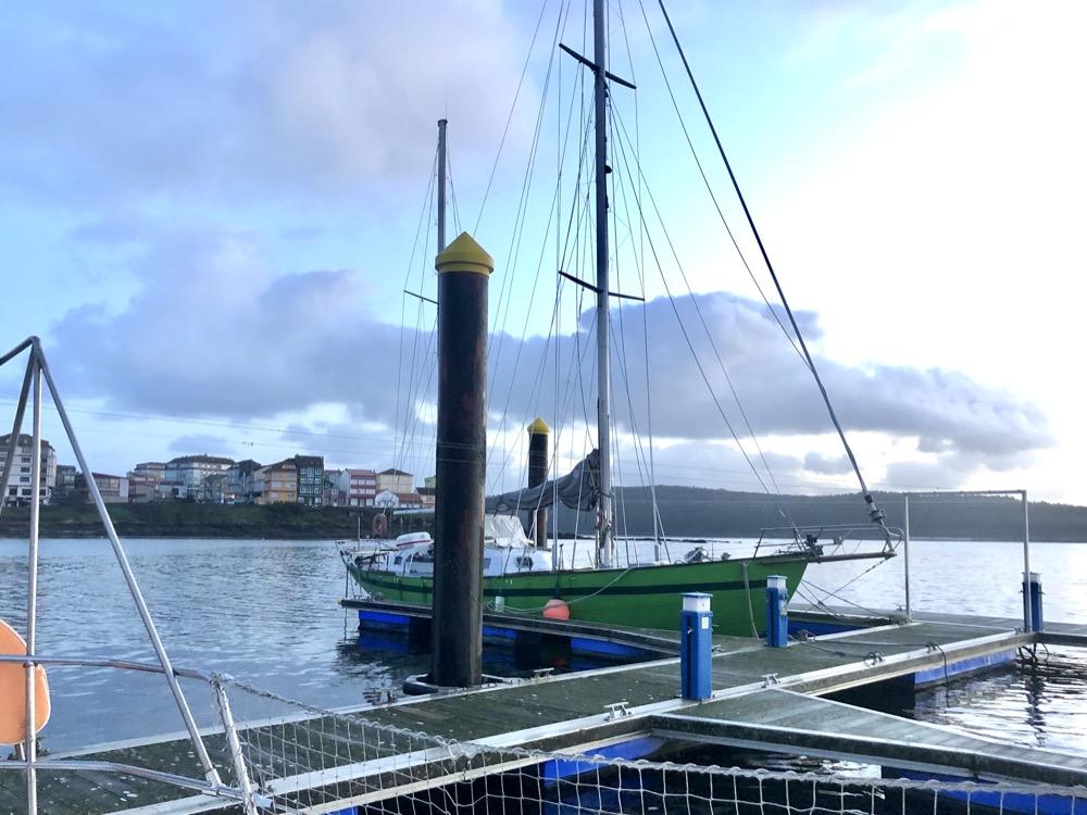 Arrivée dans le port de Camariñas au petit matin, Galice, Espagne
