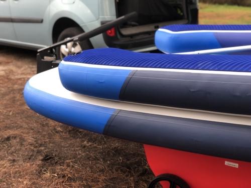 Tribord 5S - boudins gonflés, bateau sur roues
