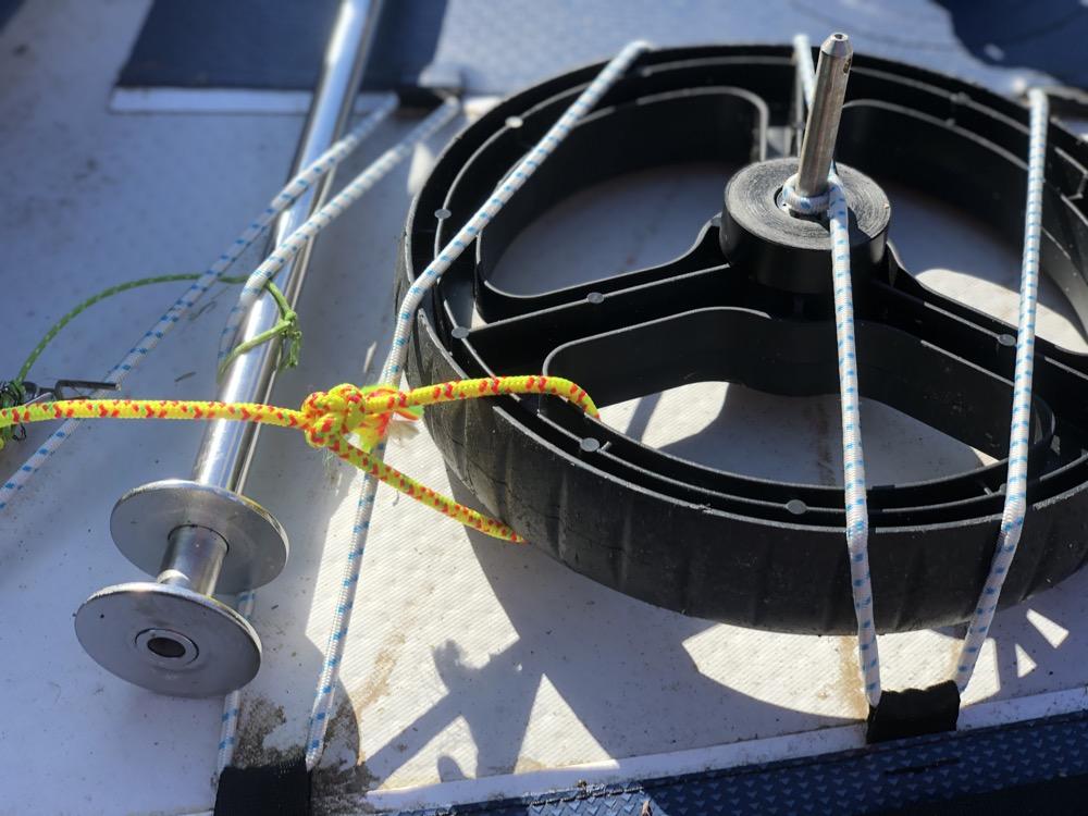 Idées pour accrocher vos roues sur le Tribord 5S