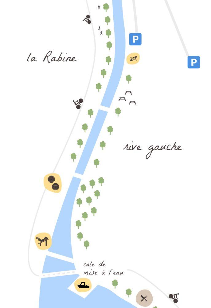 La Rabine, schéma