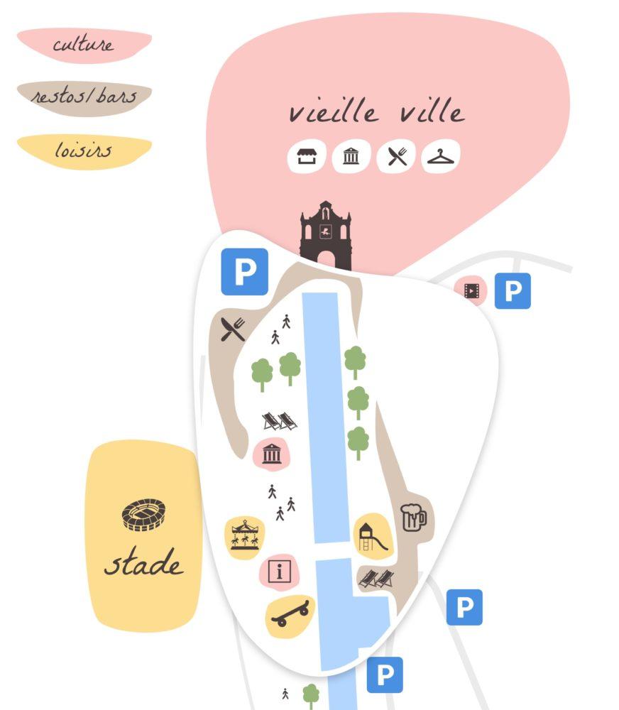 Port de Vannes, schéma