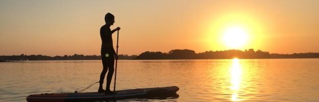 Couché de soleil en paddle