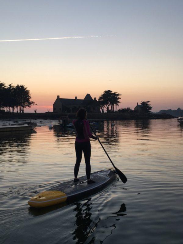 Promenade en paddle depuis la plage de Langle, Séné