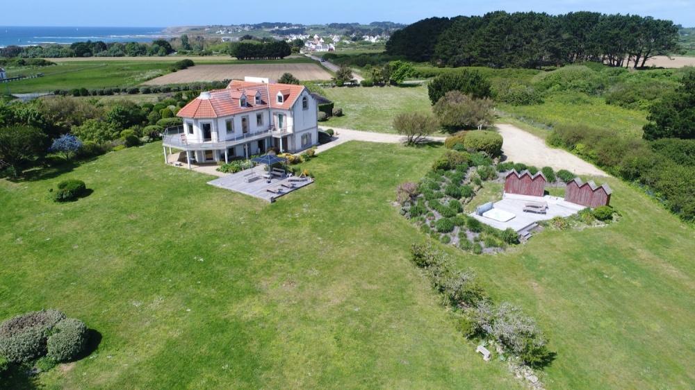 Sémaphore Groix, Demeures Marines, vue jardin (Morbihan)