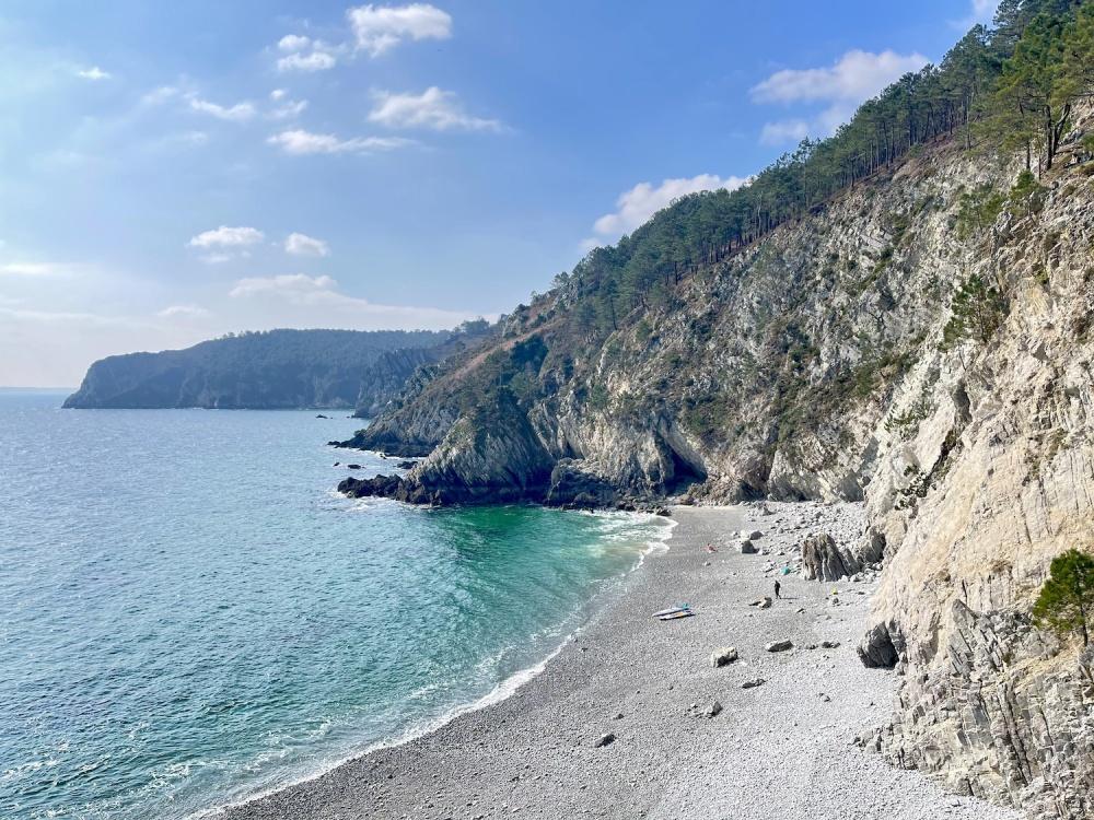 Crozon, plage de l'île Vierge, cap de la chèvre